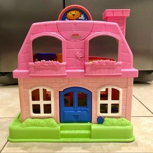 Fisher-Price Little People- Happy Sounds 2008 Toy House Playset